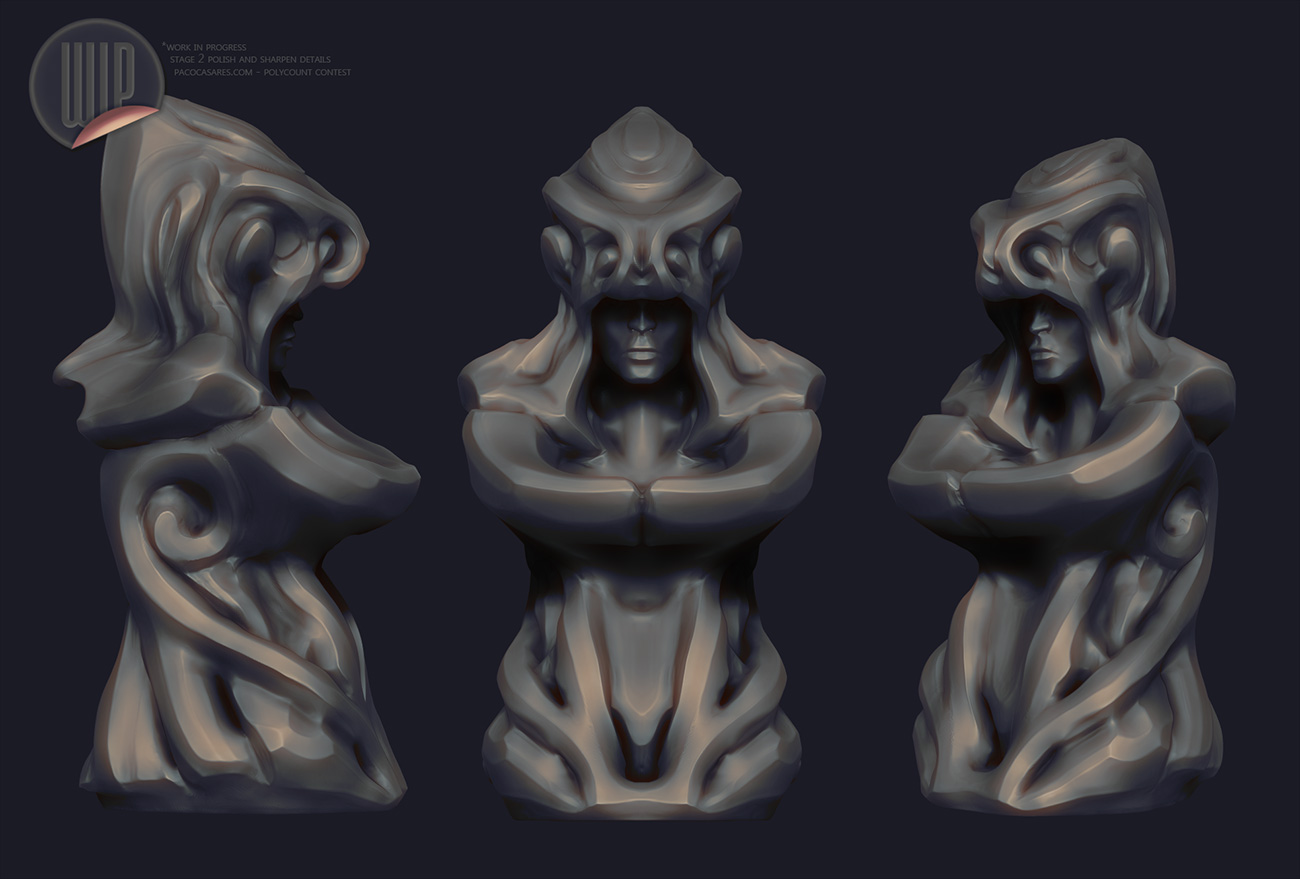 A Polycount practice statue