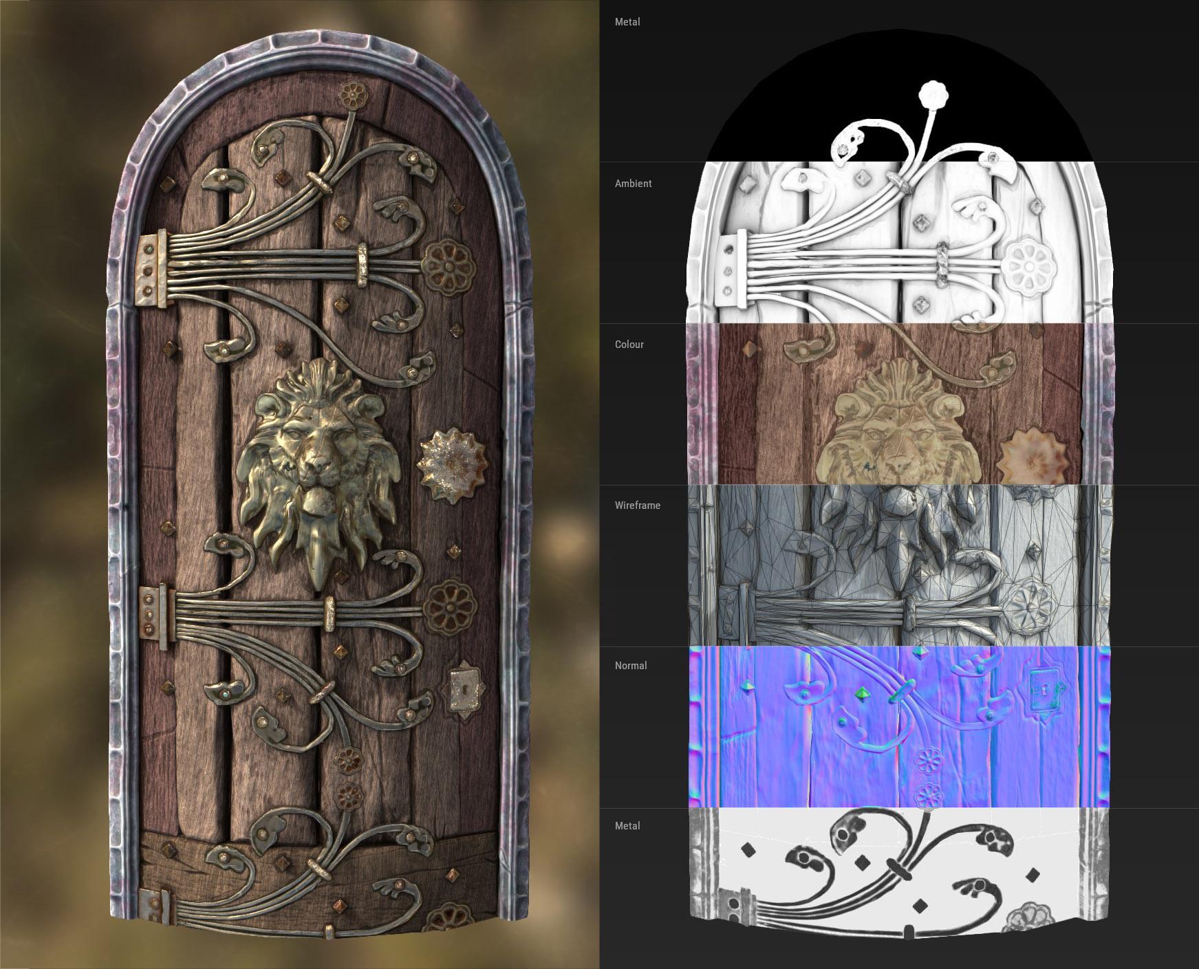 Door In Substance Painter with breakdown